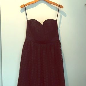 Strapless retro little black dress